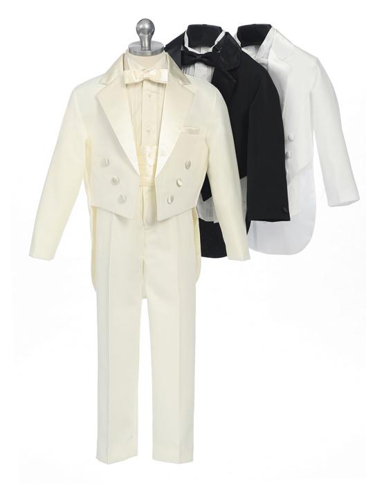 Boy's Tux with Tails and Cummerbund