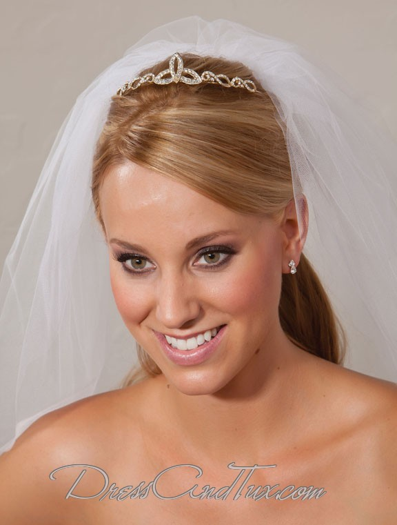 Gold Wedding Tiara - Click Image to Close