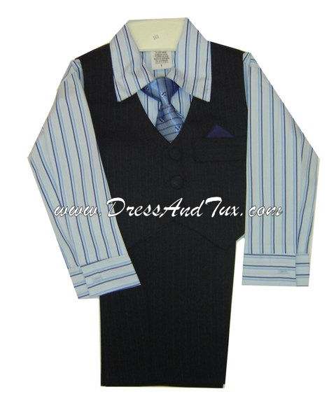 Boy's Four Piece Vest Set