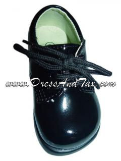 Boys Black Dress Formal Oxfords