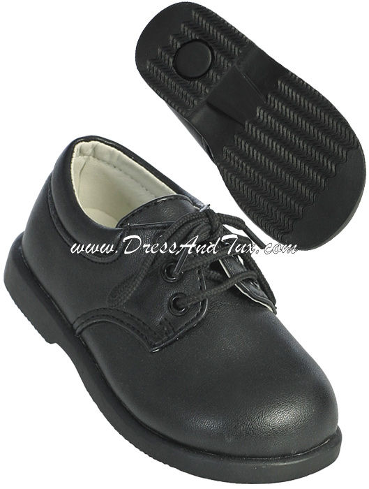 Boys Black Formal Dress Shoes