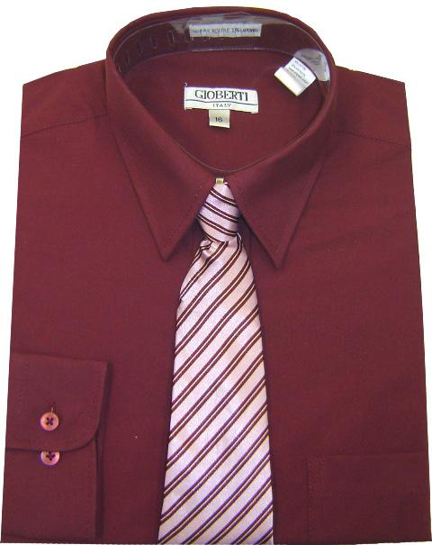Boys Dress Shirt With Tie Various Colors 19 99