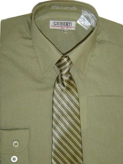 Boys Dress Shirt with Tie (Various Colors)