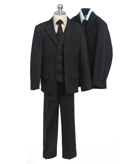 Handsome Pinstripe Boys Dress Suit