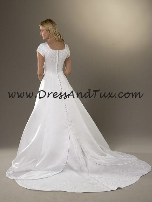 Satin Split Front Wedding Bridal Dress (Tulipe D102)