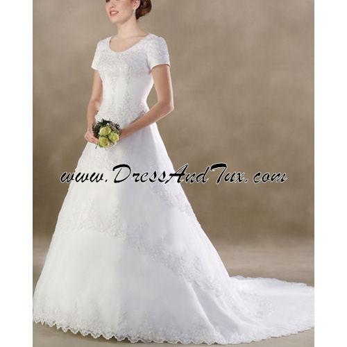 Beautiful Cathedral Length Train Wedding Dress (Geranium D16 ...