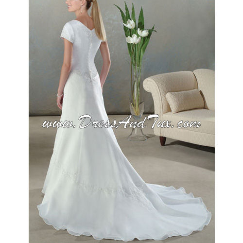 Short Chiffon Wedding Dress (D8)