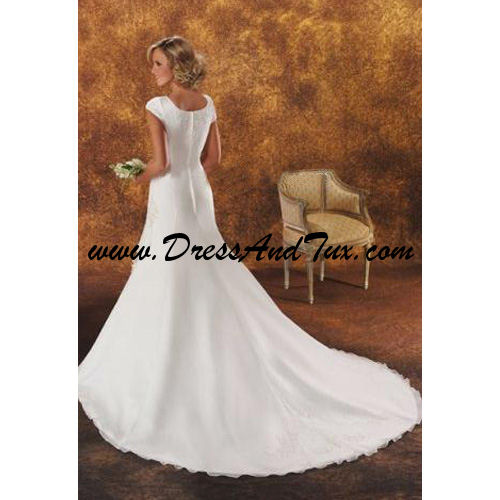 Princess Court Train Chiffon Wedding Dresses (Lotus D5)