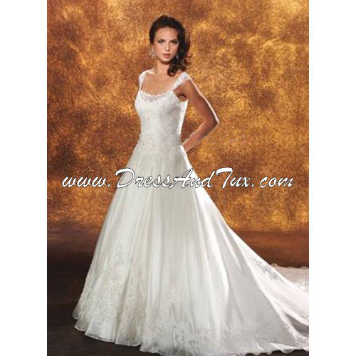 Satin Organza Wedding Dress (Alysse D7)