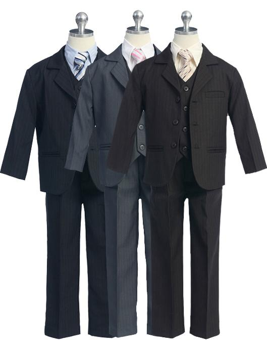 Pinstripe Five - Piece Boys Suit