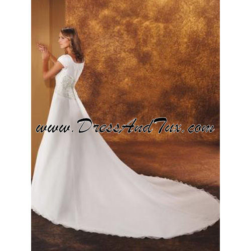 Satin Princess Modest Wedding Dress (Blanche D18)