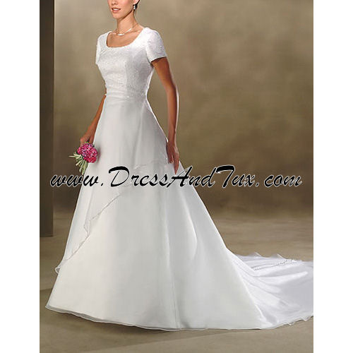 Sheer Wrap Modest Wedding Dress (Orchis D27)