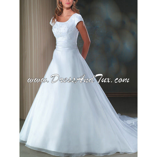 Tulle Satin Wedding Dress (NARCISSE D34)