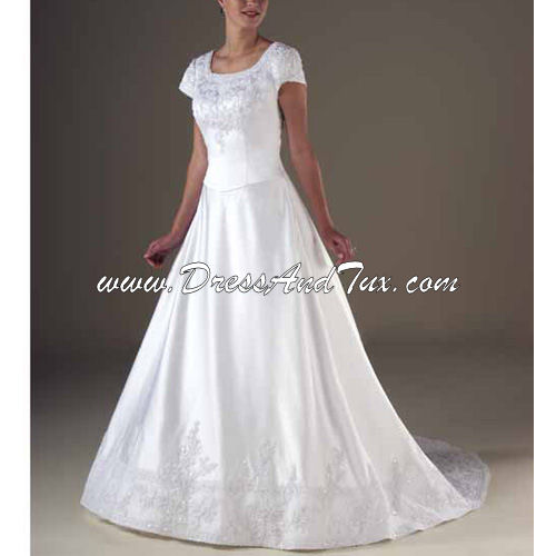 Princess Satin Wedding Dresses (D9)