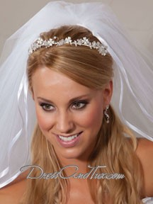 Silver Wedding Tiara Headband