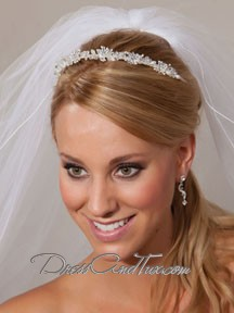 Frosted White Flower Tiara