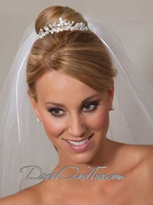 Wedding Tiara - Off White/Silver