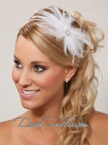 Feather Crystal Tiara