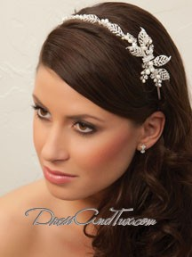 Silver Flower Wedding Headband